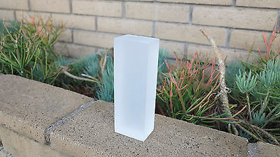 Custom Frosted SOLID Acrylic/Plexiglass BLOCK For LED Display OR Decoration