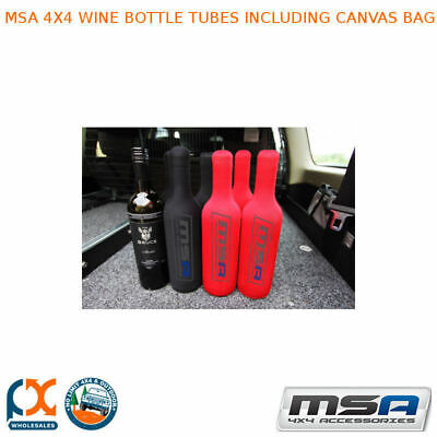 MSA 4X4 Wine Bottle Tubes with Canvas Bag