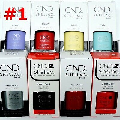 CND Shellac UV Gel Nail Polish Base Top Coat /Brand New Gel Color #1- Choose Any