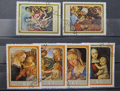 A3433 Burundi 1968 Paintings By Botticelli, Durer, Raphael Used