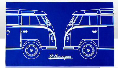 Vw Split Camper Campervan Tea Towel - 100% Cotton