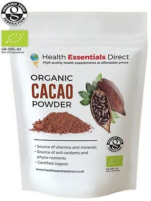 Organic Cacao/Cocoa Powder (Premium Criollo, Peruvian Superfood) Choose Size