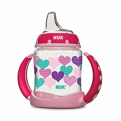 NUK Fashion Hearts Learner Cup, 5-Ounce,(14092)Color:Girl,BPA Free,Spill-proof