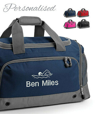 Personalised Embroidered Swimming Holdall Bag, Sport Gym Pool Exercise Travel