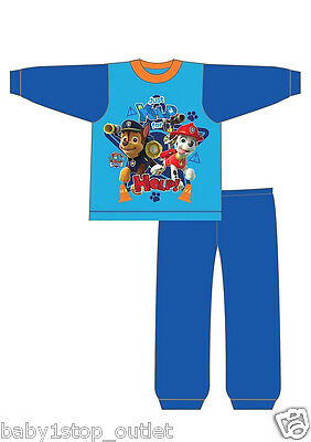 Official Boys Paw Patrol Pyjamas Age 12-18 18-24 Months 2-3 3-4 Years Blue