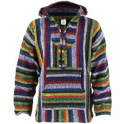 Hoodie Mexican Baja Jerga Drug Rug Jumper Siesta Surf hippy hoody COLOURS