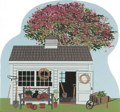 Cat's Meow Village Spring Garden House Scene #CC08 NEW SHIP DISC