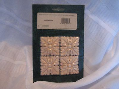 Ornamental Mouldings Made In Usa - 4 Serrated Squares New In Package