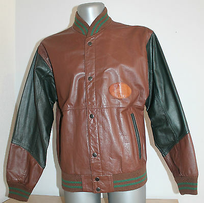 Mens YACHT CLUB Jacket vintage Leather VARSITY University BASEBALL College S