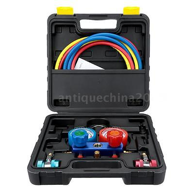 Car Auto A/C Manifold Gauge Set R-134a Air Conditioner with Hose Coupler R0C8