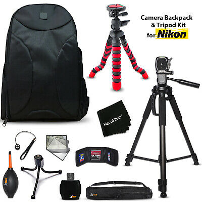 Well Padded Camera Backpack + 2 Tripods + KIT for  Nikon D3200