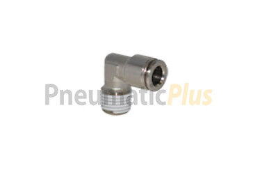 1/4 OD x 1/4 NPT Male Non-Swiveling Elbow Metal Push In to Connect Tube Fitting