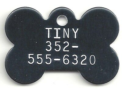 Little Tiny Toy Breed Puppy Dog Bone Pet ID Tag