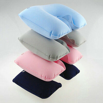 Hot Inflatable Soft Car Head Neck Rest Compact Air Cushion Pillow For Travel