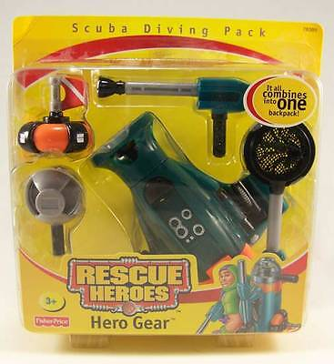 Fisher Price Rescue Heroes Scuba Diver Hero Gear Action Figure Accessories Only