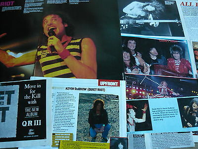 Quiet Riot - Magazine Cuttings Collection (Ref X12)