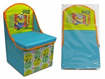 Kids Despicable Me Minions Toys Storage Solution Chair (Free P+P)