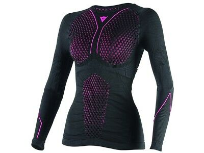 Langarmhemd Dainese D-Core THERMO Longsleeve LADY Gr:M Schwarz/Pink Funktion