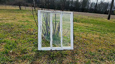 Vintage Sash Antique Wood Window Unique Frame Pinterest Wedding 3 Pane 33X30