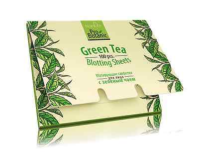 TianDe ProBotanic Green Tea Facial Blotting Sheets for areas of increased sebum