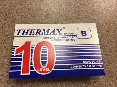 THERMAX original brand Temperature Indicating strips Range B (950036) pk of 10