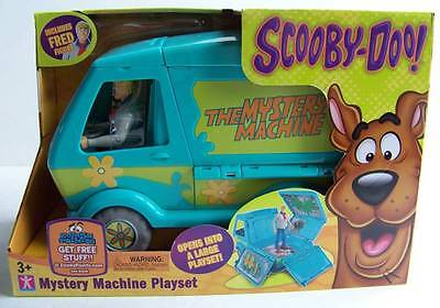 """Scooby Doo The Mystery Machine Van Vehicle Playset & 5"""" Fred Action Figure Lot"""