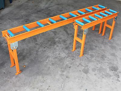 ROLLER CONVEYOR ADJUSTABLE GRAVITY TABLE TOP ROLLER TABLE 3000mm x 250mm