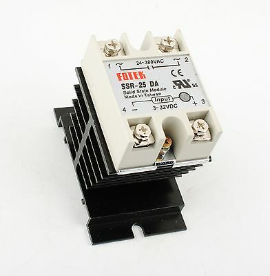 SSR-25 DA 25A 3-32V DC / 24-380V AC Solid State Relay Heat Sink Electric