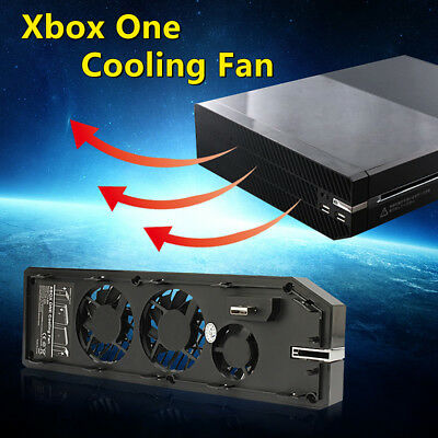 Cooling Cooler Fan Exhauster Intercooler for Microsoft Xbox One with Dual USB T