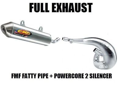 Fmf Fatty Pipe Exhaust + Powercore 2 Silencer 04-10 Ktm 250 300 Sx Exc Mxc