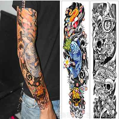 COOL Unisex 3D Tattoo Big arm Waterproof Removable Temporary Tattoo stickers