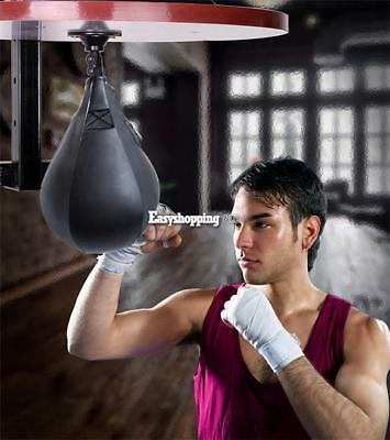 Boxing Pear Shape Speed Ball & Swivel Punch Bag Punching Training Speedball ES9P