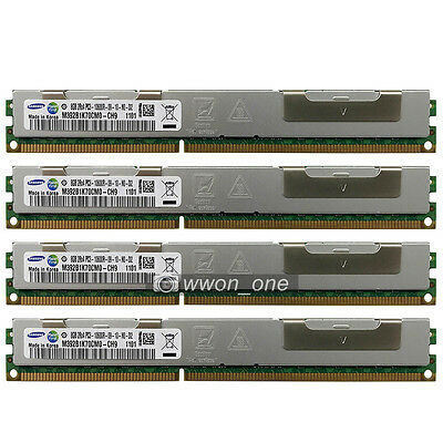 Samsung 32GB 4x8GB 2Rx4 PC3-10600R DDR3-1333MHz 240Pin ECC Registered REG Memory
