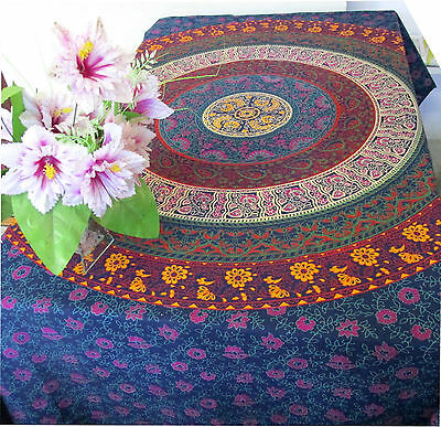 Indian Mandala Tapestry Hippie Wall Hanging Bohemian Bedspread Throw Twin Decor
