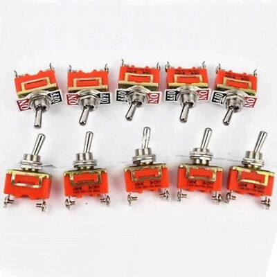 15A 250V 2 Pin Toggle ON-OFF Switch TYPE 1021 Latching Terminal Car Auto Dash
