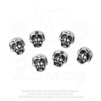 Alchemy - Skull Shirt - Pewter Buttons - Pack of 6