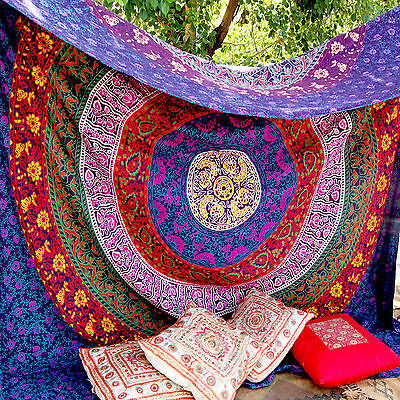 Indian Mandala Tapestry Hippie Wall Hanging Throw Bohemian Bedspread Twin Decor