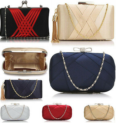 Women's Ladies Clutch Evening Bags For Wedding Bridal Night Out Party Ball Prom