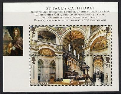MS2847 2008 St Paul's Cathedral Miniature Sheet - UNMOUNTED MINT