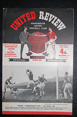 Manchester United V  Bolton Wanderers   1960/61 Manchester Senior Cup Final Pp