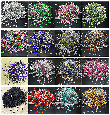 4mm 6mm 8mm Facets Resin Rhinestone Gems Flat Back Crystal Beads Select Styles