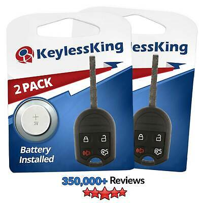 2 New Replacement Keyless Entry Remote High Security Car Key Fob for 5922964