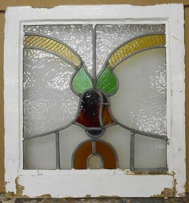 "OLD ENGLISH LEADED STAINED GLASS WINDOW Floral Bells 19.75"" x 20.75"""