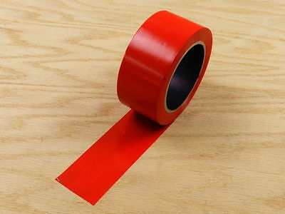 "2"" Red Insulated Adhesive PVC Pin Striping Vinyl Electrical Tape 108' 36 yd"