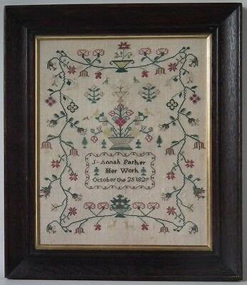 Antique Sampler, 1827, by J Annah Parker