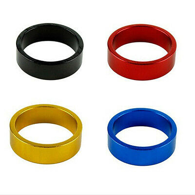 2 Pcs 10mm Aluminum Mountain Road Bike Bicycle Cycling Headset Stem Spacers