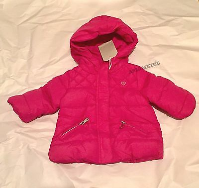 df4ced9b9caf ZARA BABY GIRLS  Quilted Jacket with Hood Hot Pink 3-6 months BNWT ...