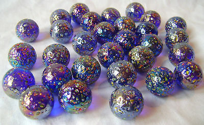 NEW 25 GLITTERBOMB 25mm GLASS MARBLES TRADITIONAL GAME or COLLECTORS ITEMS HOM