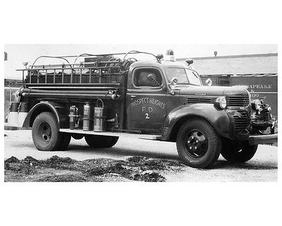 1946 Dodge Darley Fire Truck Photo Prospect Heights IL ca4902