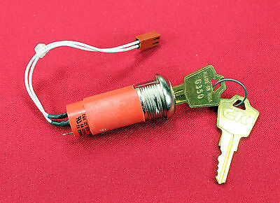 NEW C & K (2) Y SERIES KEY SWITCH 4A 125VAC 2A 250VAC - No Nut